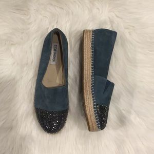 NEW Steve Madden Koin Blue Suede US 7.5 M